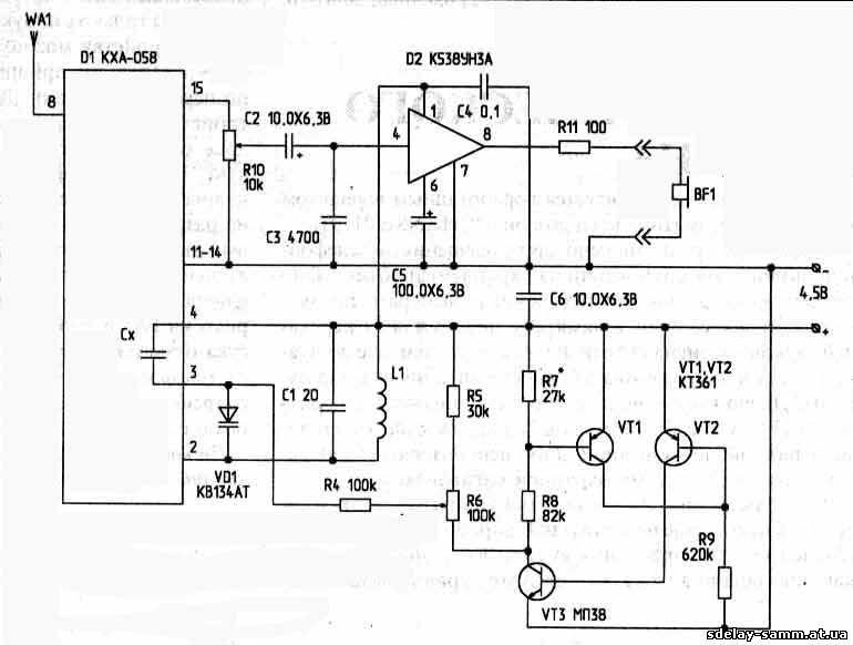 УКВ радиоприемник на КХА-058