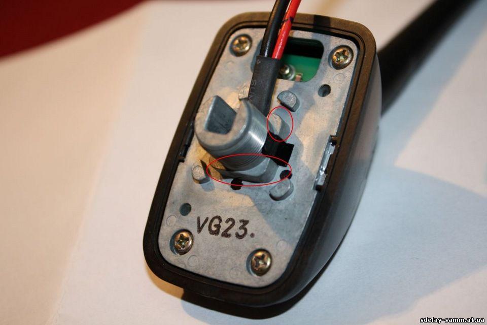 Замена антенны ланос - сенс