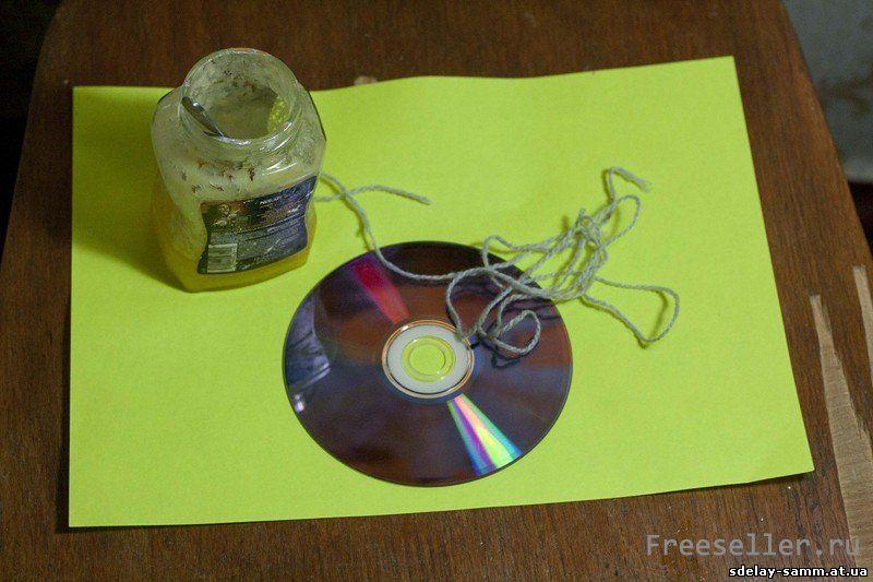 Самодельная ловушка для мух из CD диска