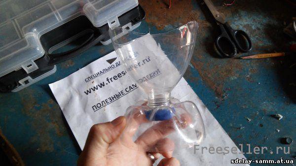 Подсвечник из пластиковой бутылки