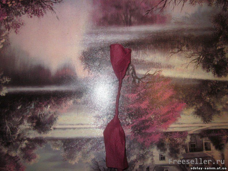 Тюльпан из салфетки